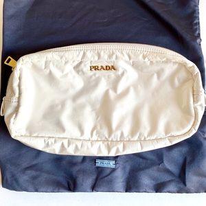Prada Patent Leather Clutch Pouchette Travel Bag